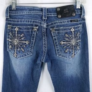 MISS ME Boot Cut Jeans Denim Embellished Bottoms